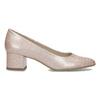 Beżowe lakierowane czółenka damskie bata, różowy, 621-5657 - 19