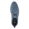 Granatowe skórzane desert boots męskie bata, niebieski, 823-9655 - 17