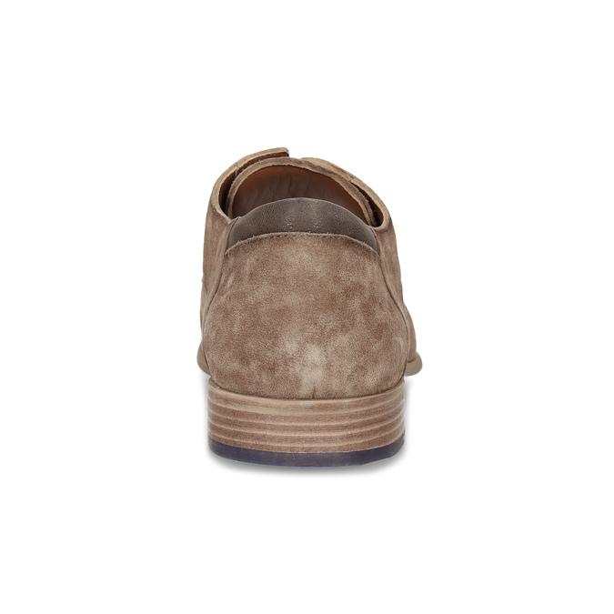 Brązowe skórzane półbuty ze zdobieniami brogue bata, brązowy, 823-3654 - 15