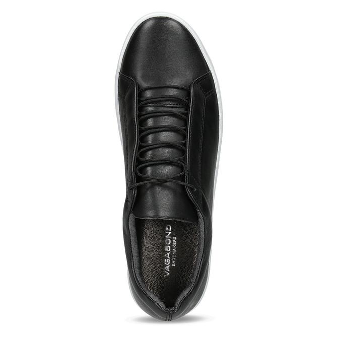 Czarne skórzane buty sportowe vagabond, czarny, 624-6014 - 17