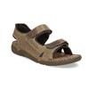 Czarno-granatowe skórzane sandały męskie weinbrenner, brązowy, 866-4643 - 13