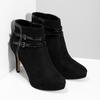 Czarne botki na szpilkach bata, czarny, 799-6624 - 26