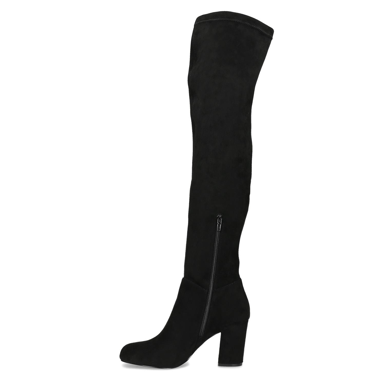 0d796090dd482 ... Czarne kozaki damskie za kolana bata, czarny, 799-6638 - 17 ...